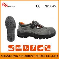 66c6831d6264 Top Quality Breathable Suede Leather Steel Toe Summer Safety Shoes