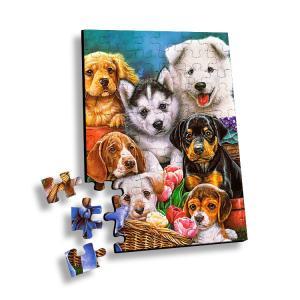 Buy cheap 100 Piece Plastic 3D Lenticular Printing Puzzle For Souvenir product