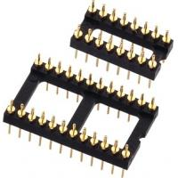 Buy cheap 2.54mm Round Machine Pin Headers , Male IC Socket PCB Header Connector product