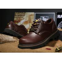 Buy cheap Non Slip Rubber Sole Work Safety Shoes Cowhide Leather Work Boots For Men / Women product