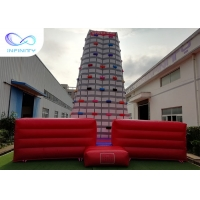China High Giant Rocket Adults Inflatable Rock Climbing Wall For Sale on sale