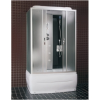 Buy cheap 1Person Colorful Acid Glass Steam Shower Cabin With Glass Sliding Door product