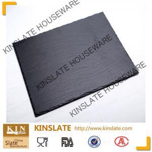 Buy cheap panneau 20cm*30cm rectangulaire naturel noir élégant de fromage d'ardoise pour la vaisselle product