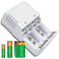 Buy cheap White Ni-Cad / Ni-MH Alkaline Battery Recharger With LED Indicator from wholesalers