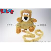 "Buy cheap 11.8""Lovely Yellow Plush Lion Children Backpack Children Not Lost Bags Bos-1238/30cm product"