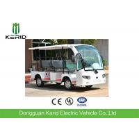 Buy cheap 3 Rows Safa Seats Small Electric Shuttle Bus With MP3 Player Alloy Rim For Hotel product