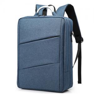 Buy cheap Polyester Mens Laptop Custom Logo Backpacks Double Shoulder Silk Screen product