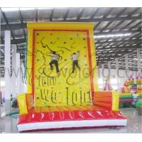 China New design commercial rock inflatable climbing wall , hot sale inflatable climbing game on sale !!! on sale