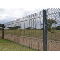China 358 Anti Climb Welded Mesh Fencing High Security Galvanized + Pvc Coated on sale