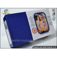 China Promotional Electronics Packaging Boxes Blue Paperboard Customized Sizes on sale
