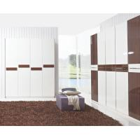 Buy cheap Hotel Interior Design by project Furniture in-wall Wardrobe cabinet high glossy melamine product