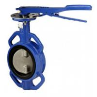 Buy cheap Blue Cast Iron Manual Butterfly Valve with aluminum handle product