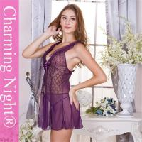 Good Looking Lace Mesh Sexy Adult Girl Chemise Lingerie Transparent With G-string
