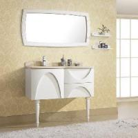 Buy cheap White Solid Wood Bathroom Cabinet Set (AA010) product