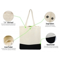 Buy cheap 15oz Snap Button X Stitched Canvas Cotton Tote Bag from wholesalers