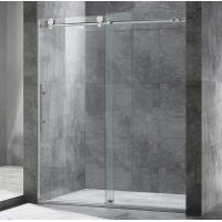 Buy cheap 3/8 Inch Full Frameless Shower Glass Design with Smooth Big Rollers product
