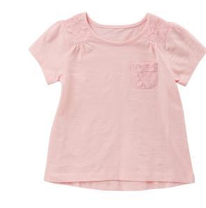 China Short Sleeve Girl Pink Summer Shirts on sale