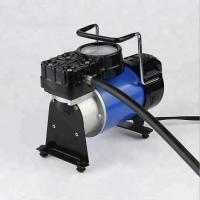 Quality Metal Car Tire Air Compressor With Lamp / 100PSI Small Air Compressor For Tires for sale