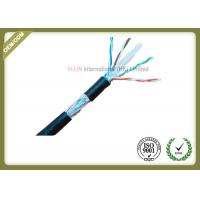 Quality 8 Conductors Network Fiber Cable , Cat6 SFTP Cable With 0.58mm Diameter Pass Fluke Test for sale