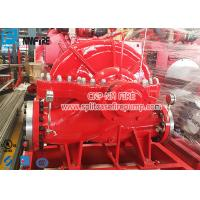 Buy cheap 1000gpm UL And FM Listed Horizontal Centrifugal Split Case Fire Pump With Engine from wholesalers