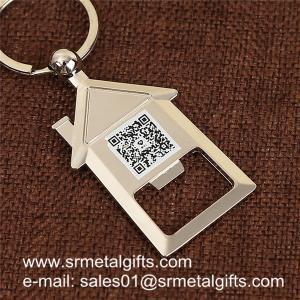 China House shaped metal bottle opener key holder, house shape beer opener key holders wholesale