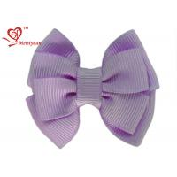China Lovely Purple Grosgrain Ribbon large Girls Hair Bows For kids Hair Accessories on sale