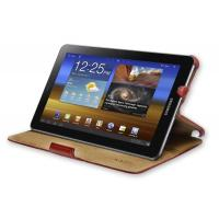 China KAZEE Samsung Galaxy Tablet PC 7.7 Slim Leather-Feel Red Cover Case & Stand on sale