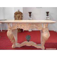 Buy cheap Red Limestone Carved Bench With Nude Woman product