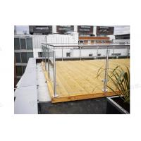 Buy cheap Factory Balcony Stainless Steel Post Glass Panel Railing is On Hot Selling! product