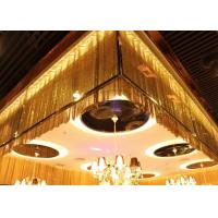 Buy cheap Metal Mesh Fabric Cloth / Flexible Metallic Sequin Fabric for Room Divider product