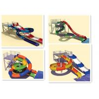 Interactive Swimming Pool Water Slide Equipment Mix Color Steel Columns for sale