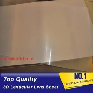 Buy cheap PET thinnest offset lens  0.18mm 200 Lpi, 51x71cm  3D Film Lenticular Lens Sheet for UV offset printer annd injekt prin product