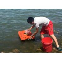 Buy cheap Orange catamaran bait boat lithium battery power and ABS plastic type product