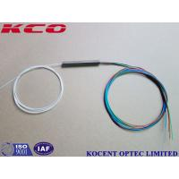 Buy cheap Lszh Cover 1x4 2x4 G652D Fiber Optic Splitter With 0.3m Cable Length product