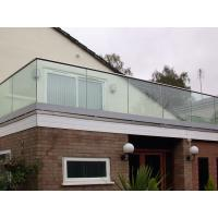 Buy cheap Tempered clear glass balustrade for the deck U-channel glass railing product