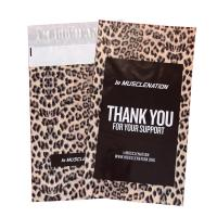 Buy cheap 10x12in Black Printed Leopard Poly Mailers custom poly bags for shipping product