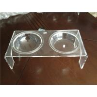Buy cheap Luxury Clear Acrylic Pet Bowl Stand With Two Bowls For Dog / Cat product