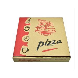 Caixa da pizza do cartão de Kraft da ordem feita sob encomenda com tampa