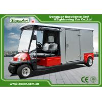 Buy cheap Red 2 Seater 48v Electric Ambulance Vehicle For Park 1 Year Warranty product