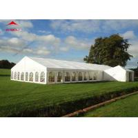 300 Seater Outdoor Event Tent With Transparent PVC Window / Large Garden Wedding Tent