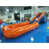 China 0.6mm PVC Tarpaulin Inflatable Water Slide With Pool For Water Park on sale