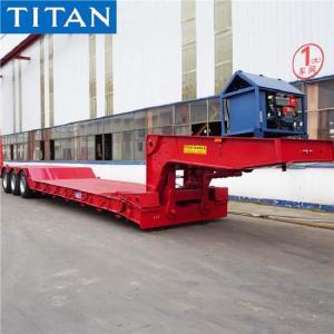 China 3 Axle 100 Tons Hydraulic Detachable Gooseneck Lowboy Trailer on sale