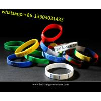 Buy cheap new interesting products rainbow silicone bracelet / rubber pvc wristband / silicone band product