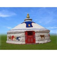 Buy cheap 4m Diameter Mongolian Domed Tent/ Yurt Camping Tent For Living Or Catering product