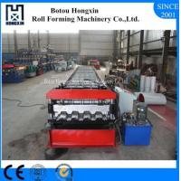Buy cheap Automatic Floor Deck Roll Forming Machine PLC Control System 980mm Cover Width product