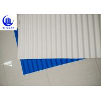 Buy cheap Plastic Corrugated Tinted Plastic Roofing Sheets / Spanish Tile Roof product