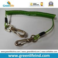Buy cheap 16cm Length Top Quality Green Tool Coiled Lanyard Holder product