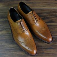Buy cheap Skyeshopping 100% Genuine Leather Calfskin Bespoke Mens Goodyear Welted Oxford  Brogues Shoes product