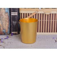 Buy cheap 334ml Gold Metal Aluminum Tin Candle Holders / Candle Jar For Home Decoration product