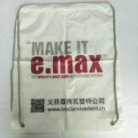 Buy cheap Rope Shoulder Custom Plastic Drawstring Bags Double Layer Material Synthetic product